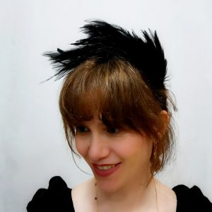 Diadema padua negro pluma cabecitaloca